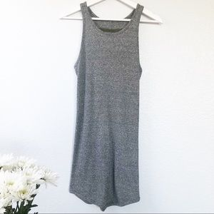 Enza Costa Ribbed Knit Tank Dress Gray sz M